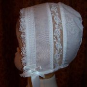Victorian Christening Bonnet with lace