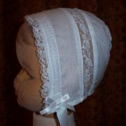Victorian Cotton Christening Bonnet - Little Doves