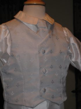 Boys Christening Suit - Christening Waistcoat and Shirt by Little Doves