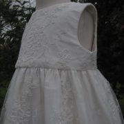 Lace Christening Gown - Sleeveless Christening Dress by Little Doves