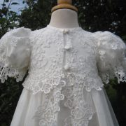 Designer Lace Christening Gown | Couture Handmade Baptism Outfit by Little Doves - Juliana
