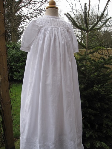 cotton Edwardian Baptism Gown by Little Doves