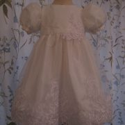 Silk Christening Dress by Little Doves
