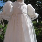 Victorian Style Lace Christening Gown - bodice - by Little Doves