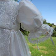 Victorian Style Lace Christening Gown Sleeve by Little Doves