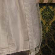 Heirloom Lace Christening Gown hemline by Little Doves