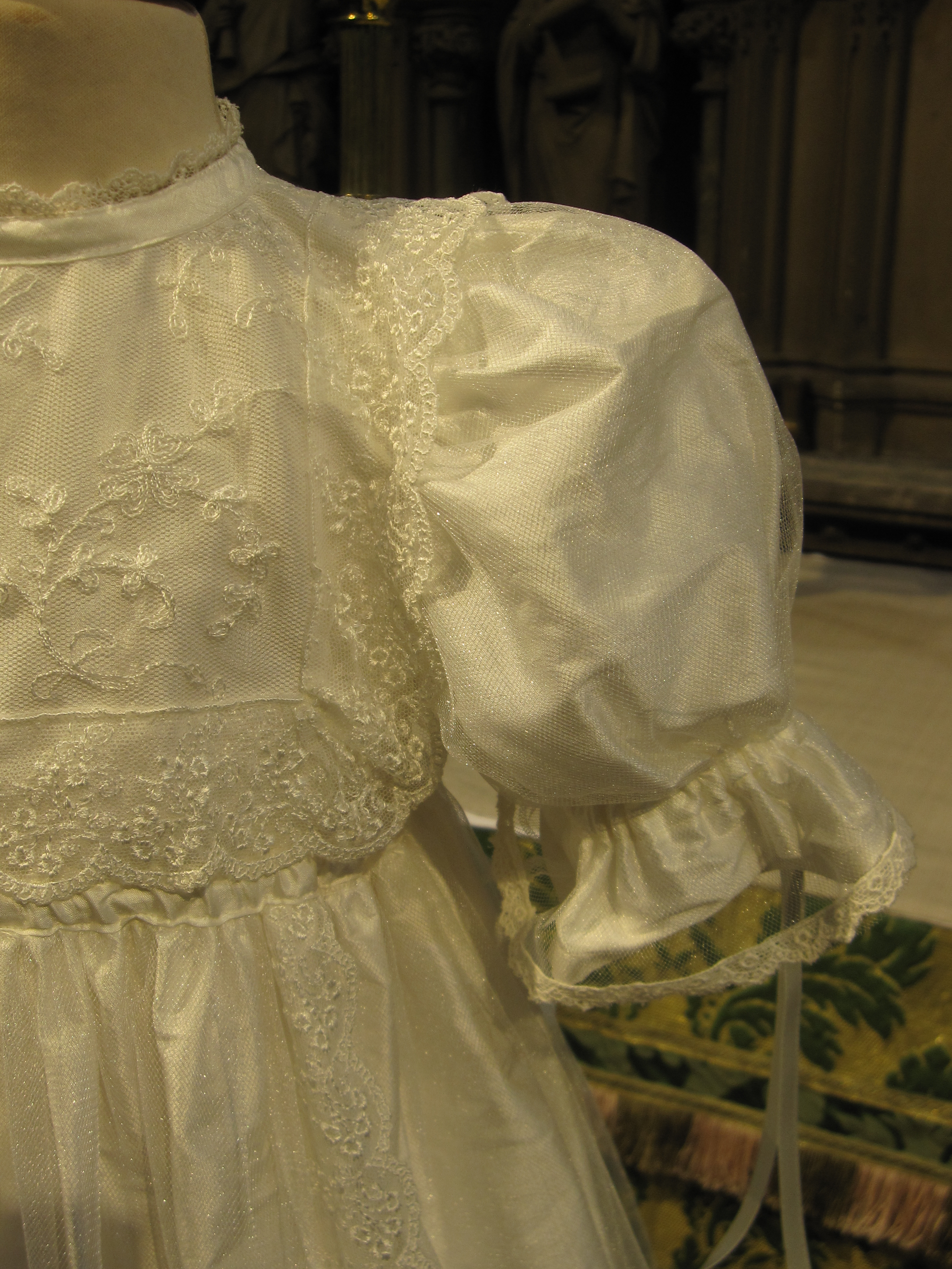 Heirloom Lace Christening Gown   Baby Baptism Gown