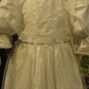 Heirloom Edwardian Style Lace Christening Gown - bodice - by Little Doves