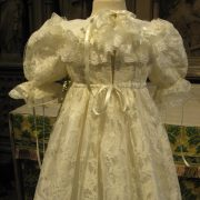 heirloom designer Christening gown - Charlotte Baptism Gown by Little Doves