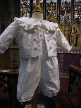 Boy's Baptism Jacket in silk from Little Doves