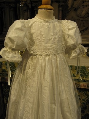 Heirloom Edwardian Style Lace Christening Gown