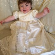 Christening Gowns, Silk Christening Gown by Little Doves