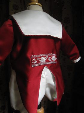 Boys Christening Outfit - Boys Christening Jacket with tails by Little Doves