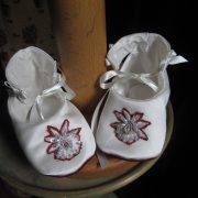 Boys Christening Outfit - Booties by Little Doves