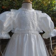 Front opening Baptism Gown - half view - by Little Doves