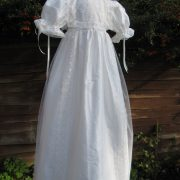 Front opening baptism Gown - full length - by Little Doves