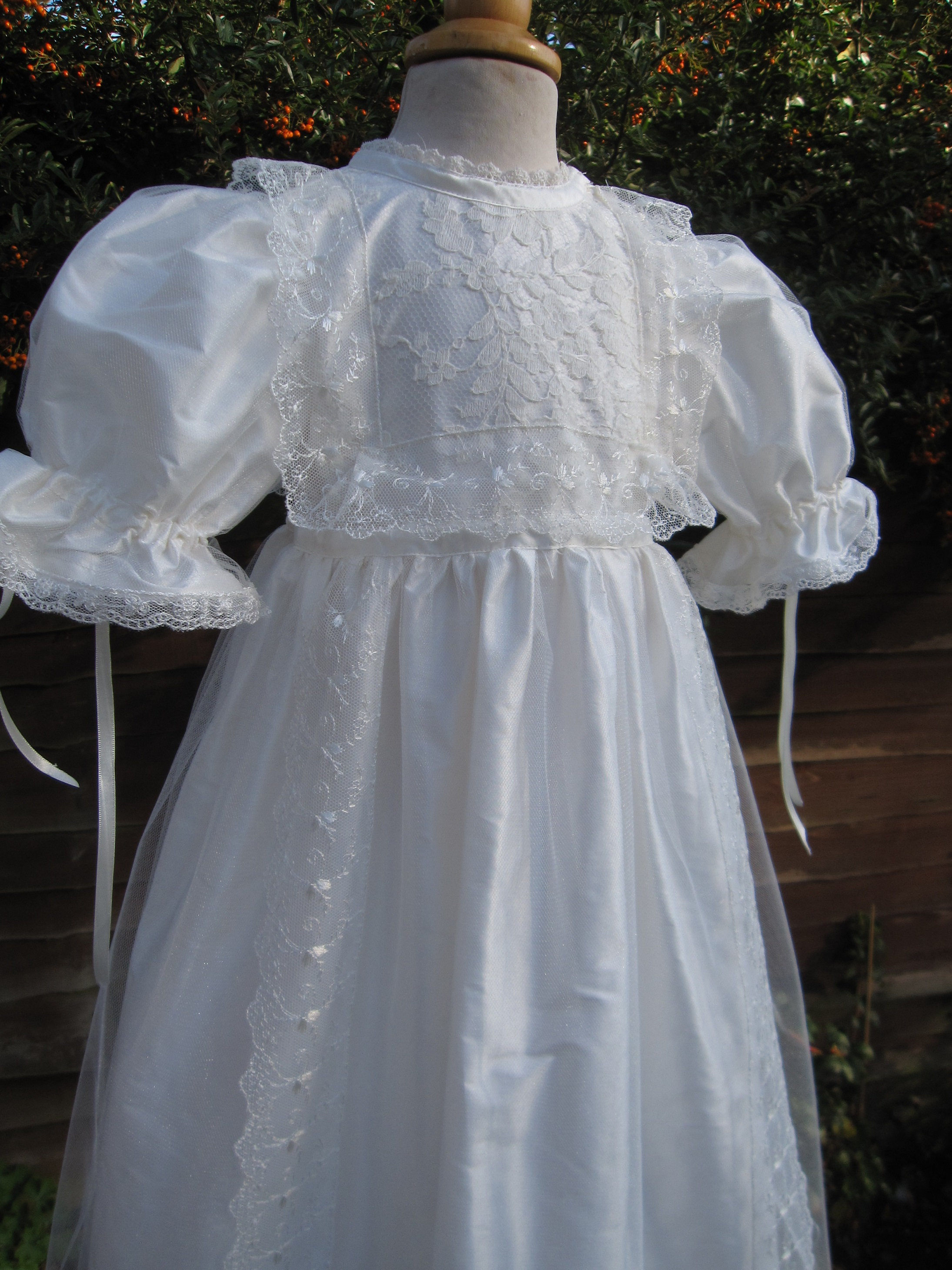 Front Opening Baptism Gown In Edwardian Style For