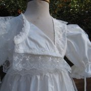 front opening Baptism Gown - Bodice - by Little Doves