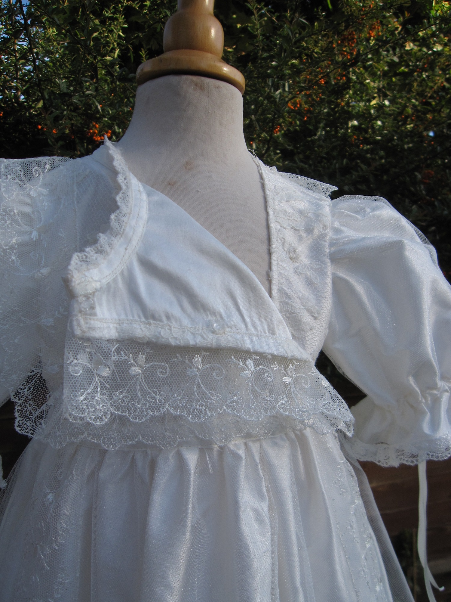front opening Baptism gown by Little Doves