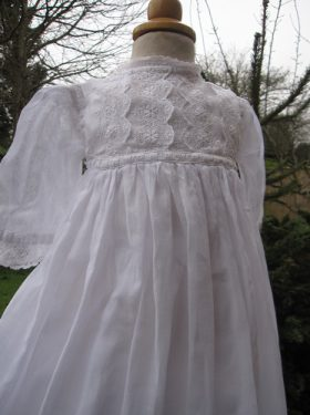Edwardian cotton Baptism Gown by Little Doves