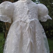 girls lace Christening gown by Little Doves