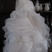 Orphelia Christening gown from a wedding dress