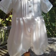 Baby Boy Christening Outfit - Louie Romper - Little Doves