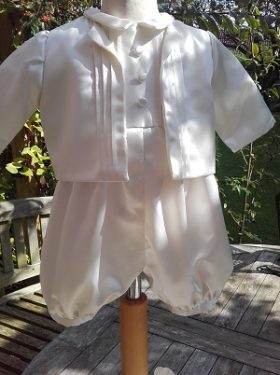 baby boy Christening Outfit - Louie Little Doves