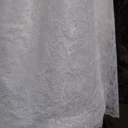 Christening Gown with Chantilly Lace - Little Doves
