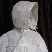 Chantilly Lace Christening Gown and Bonnet