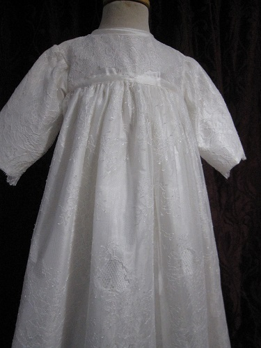 Chantilly Lace Christening Gown - Little Doves - Katherine