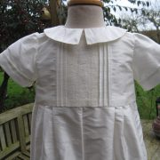 Silk Christening Romper for Boys - Little Doves - George Bodice