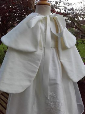 Velvet Christening Cape for girls from Little Doves