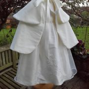 Velvet Christening Cape for Girls - Hand made by Little Doves