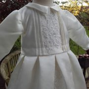boys christening gown romper combination from a wedding dress by little doves