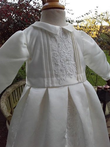 Boys Christening Gown Romper From A Wedding Dress