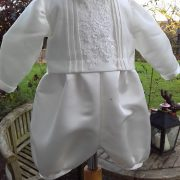 boys christening gown romper combination by little doves